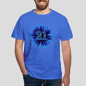 Cool 21st Birthday Dark T Shirt