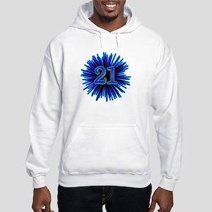Cool 21st Birthday Hooded Sweatshirt