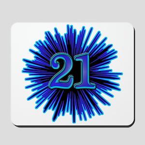 Cool 21st Birthday Mousepad