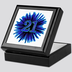 Cool 21st Birthday Keepsake Box