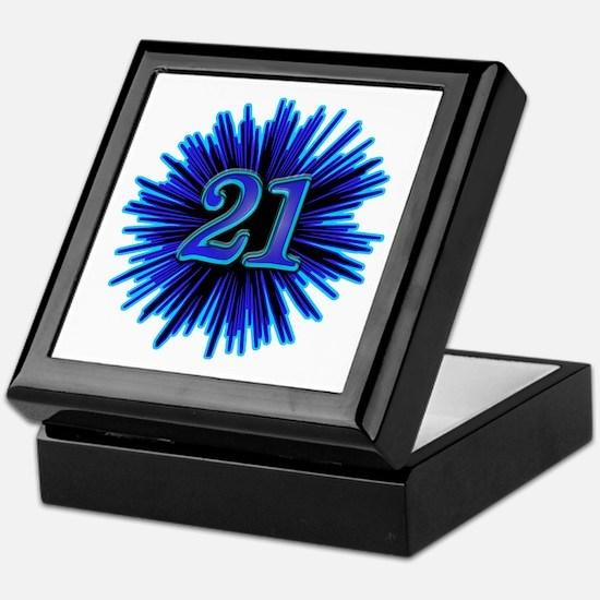 Cool 21st Birthday Keepsake Box