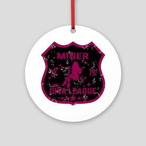 Miner Diva League Ornament (Round)