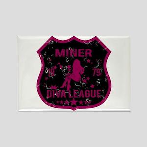 Miner Diva League Rectangle Magnet