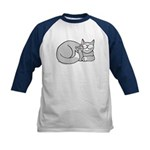 Gray/White ASL Kitty Kids Baseball Jersey