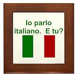 Framed Tile/Speak Italian? Parla italiano?