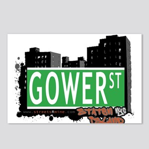 GOWER STREET, STATEN ISLAND, NYC Postcards (Packag