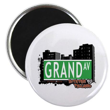 "GRAND AVENUE, STATEN ISLAND, NYC 2.25"" Magnet (100"