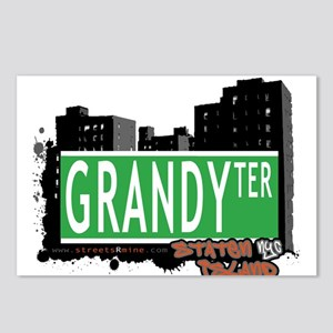 GRANDY TERRACE, STATEN ISLAND, NYC Postcards (Pack