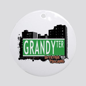 GRANDY TERRACE, STATEN ISLAND, NYC Ornament (Round