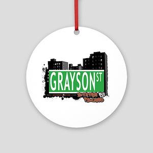 GRAYSON STREET, STATEN ISLAND, NYC Ornament (Round