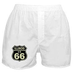 Illinois Route 66 Boxer Shorts