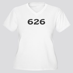 626 Area Code Women's Plus Size V-Neck T-Shirt