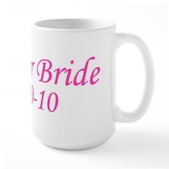 October Bride 10-10-10 Large Mug