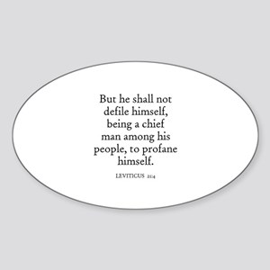 LEVITICUS 21:4 Oval Sticker