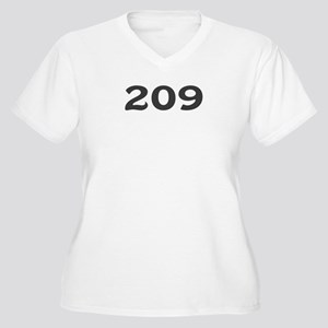 209 Area Code Women's Plus Size V-Neck T-Shirt