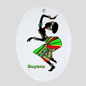 Guyana Oval Ornament