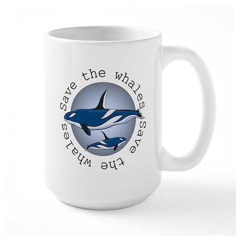 Save the whales v2 Large Mug