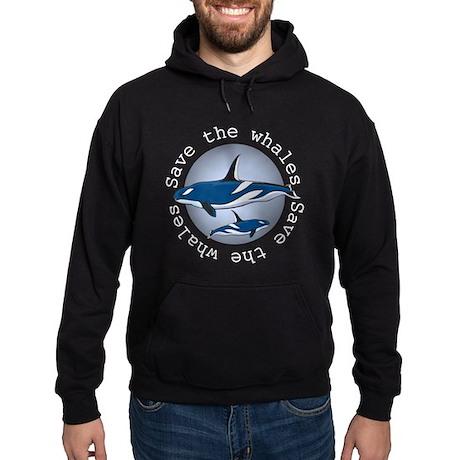 Save the whales v2 Hoodie (dark)