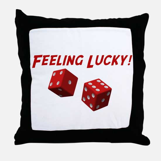 Feeling Lucky Throw Pillow
