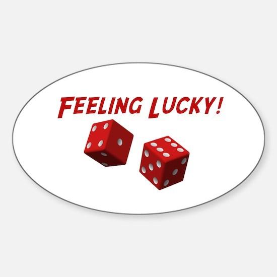 Feeling Lucky Oval Decal