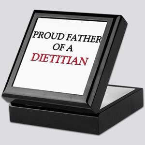 Proud Father Of A DIETITIAN Keepsake Box