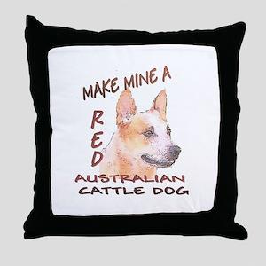 Make Mine A Red Throw Pillow