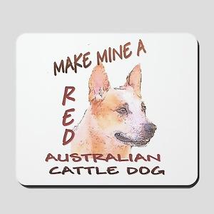 Make Mine A Red Mousepad