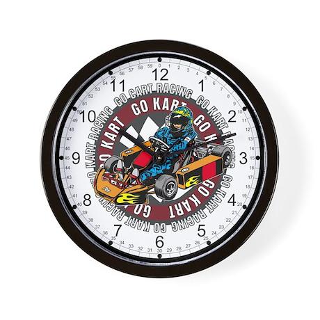 Go Kart Racing Wall Clock