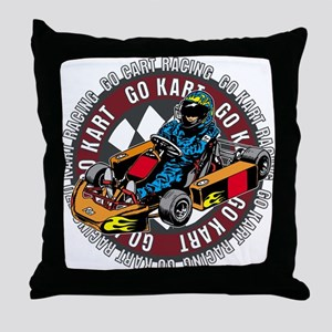 Go Kart Racing Throw Pillow