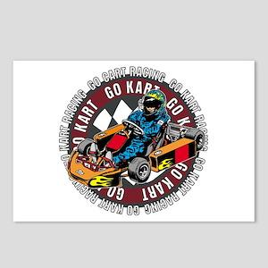 Go Kart Racing Postcards (Package of 8)