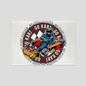 Go Kart Racing Rectangle Magnet