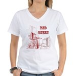 The Red Queen Women's V-Neck T-Shirt
