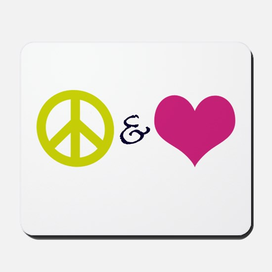 Peace & Love Mousepad