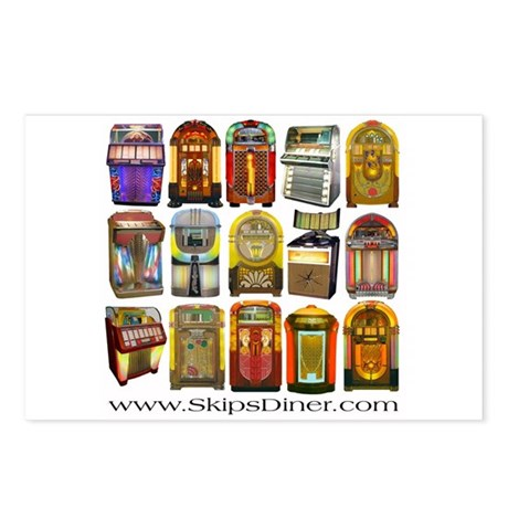 Jukeboxes Galore! Postcards (Package of 8)