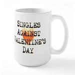 Singles Against Valentines Day Large Mug