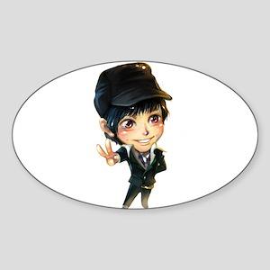 """""""Kim Bum"""" Oval Sticker"""