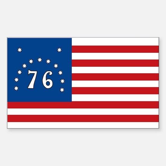 Bennington Battle Flag Rectangle Decal