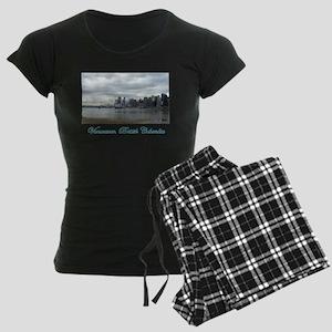Downtown Vancouver BC Women's Dark Pajamas