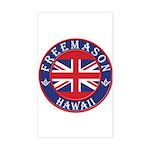 Hawaii Masons Rectangle Sticker
