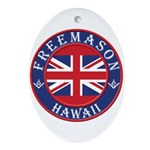 Hawaii Masons Oval Ornament