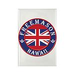 Hawaii Masons Rectangle Magnet