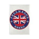 Hawaii Masons Rectangle Magnet (100 pack)