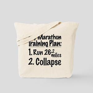 My Marathon Training Plan Tote Bag