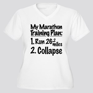 My Marathon Training Plan Women's Plus Size V-Neck