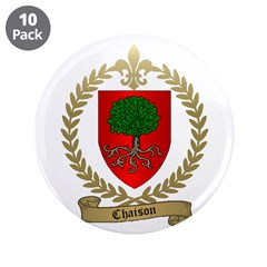 """CHAISON Family Crest 3.5"""" Button (10 pack)"""
