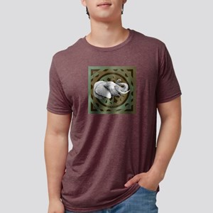 Lucky Elephant ~ Mens Tri-Blend T-Shirt