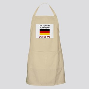 My German Boyfriend Loves Me BBQ Apron