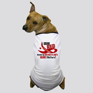 Red For Brother-In-Law Heart Disease Dog T-Shirt