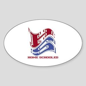 Homeschool Oval Sticker