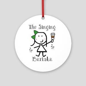 Coffee - Singing Barista Ornament (Round)